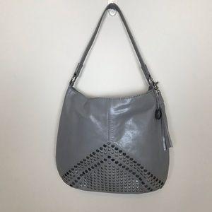 The Sak Grey Bag with silver studs